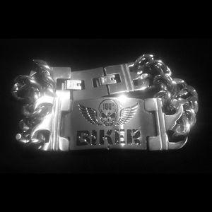 Men/Women Titanium Steel Biker Skull Bracelet